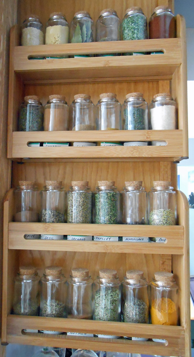 Canned goods, pots and pans, plastic containers and pot holders have always been on the play list for our family's kids. We''ll now be introducing them to the spice rack, too.