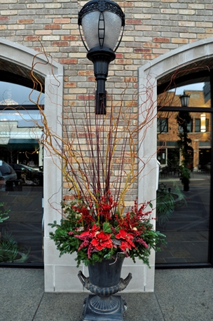 Elegant holiday decor for your pots, from your own garden.