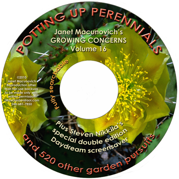 You can obtain our CD compilations of not-yet-posted articles at our Market. Each CD has a complete searchable index and hundreds of articles on all topics from anemones to soil, trees and indoor plants.